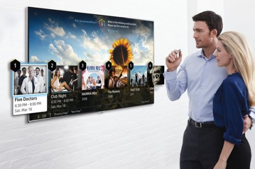 Samsung Smart TV which is controlled by finger