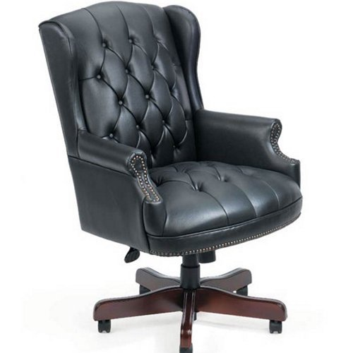 Superieur Boss Wingback Leather Chair