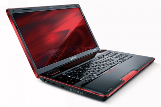Toshiba Qosmio gaming laptop