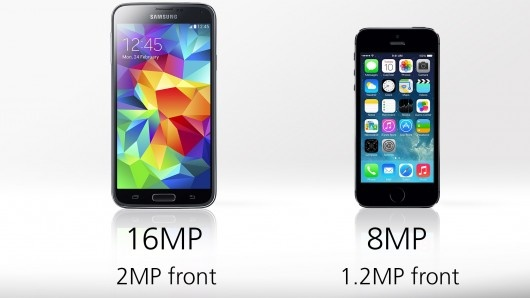 samsung galaxy s5 vs iphone 5s cameras