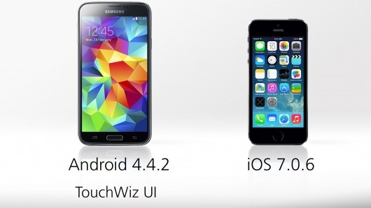 samsung galaxy s5 vs iphone 5s operating system